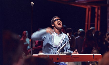 Unbridled joy … Stevie Wonder on Top of the Pops, 1971.