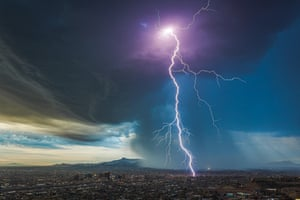 A storm breaks over El Paso