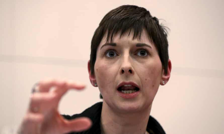 Britain's Liberal Democrat Party candidate for Mayor of London Caroline Pidgeon speaks at a hustings event in London