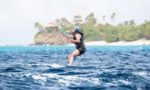'We decided to set up a friendly challenge: could Barack learn to kitesurf before I learned to foilboard? We agreed to have a final day battle to see who could stay up the longest,' Branson says