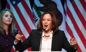 Democratic Senator Kamala Harris at a rally in California in November 2018.