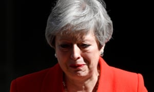 British Prime Minister Theresa May delivers a statement to the Press outside Number 10 Downing Street in London, pledging to step aside as Conservative leader on 7 June