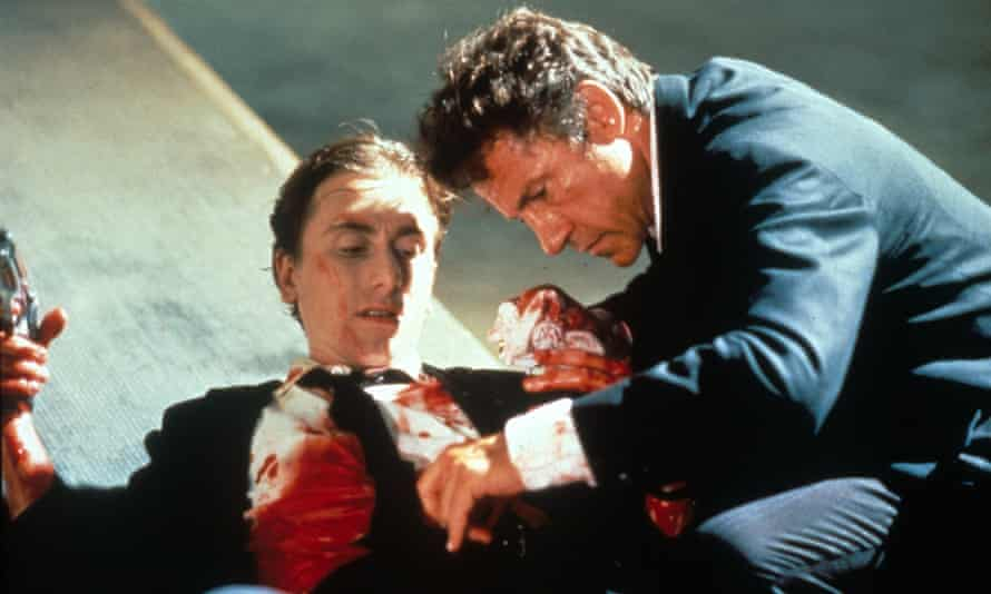 Tim Roth and Harvey Keitel in Reservoir Dogs.