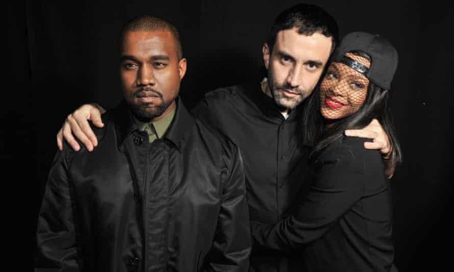 Riccardo Tisci, Kanye West and Rihanna.