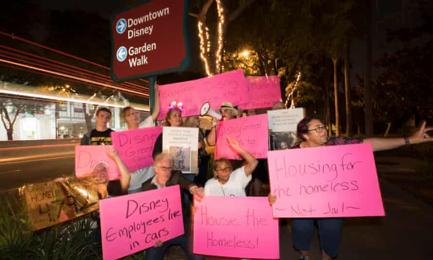 Demonstrators said on Friday that their protests were falling on mostly deaf ears: 'We're getting a lot of hostility from the Disney fans, saying if they aren't making enough money, 'why don't they go work somewhere else?'