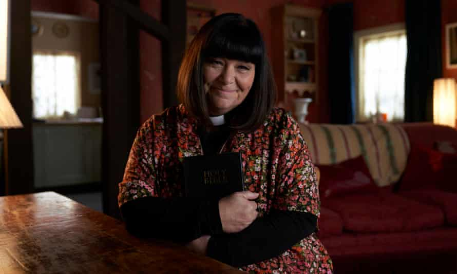 Dawn French in The Vicar of Dibley in Lockdown.