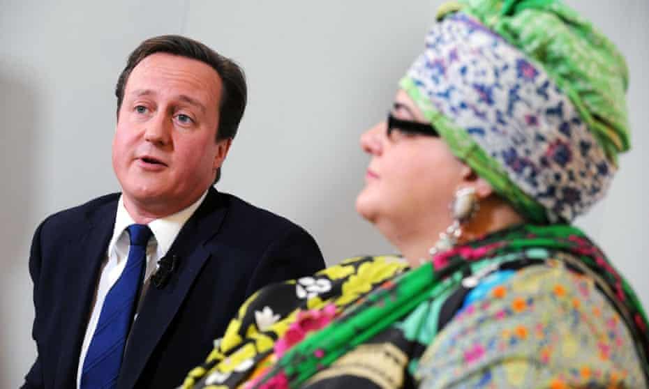 David Cameron with the founder of Kids Company, Camila Batmanghelidjh