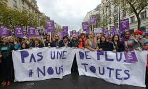 The women's organisation Nous Toutes said 100,000 people marched in Paris to protest against domestic violence.