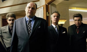 The Godfather-referencing Sopranos characters, says James, 'are in a bigger story than the one they're quoting'.