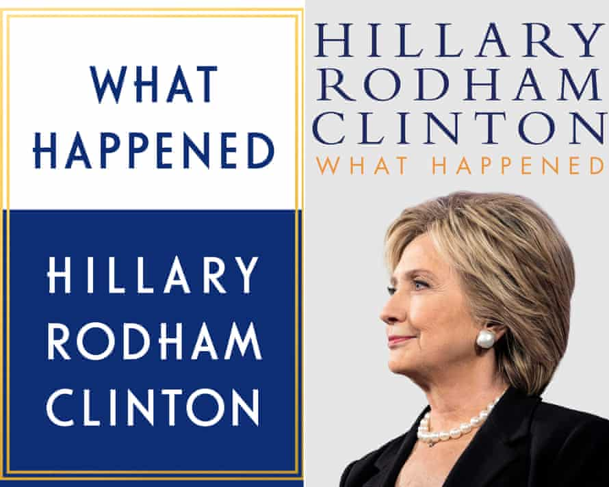 The US (left) and UK (right) editions of What happened by Hillary Clinton.