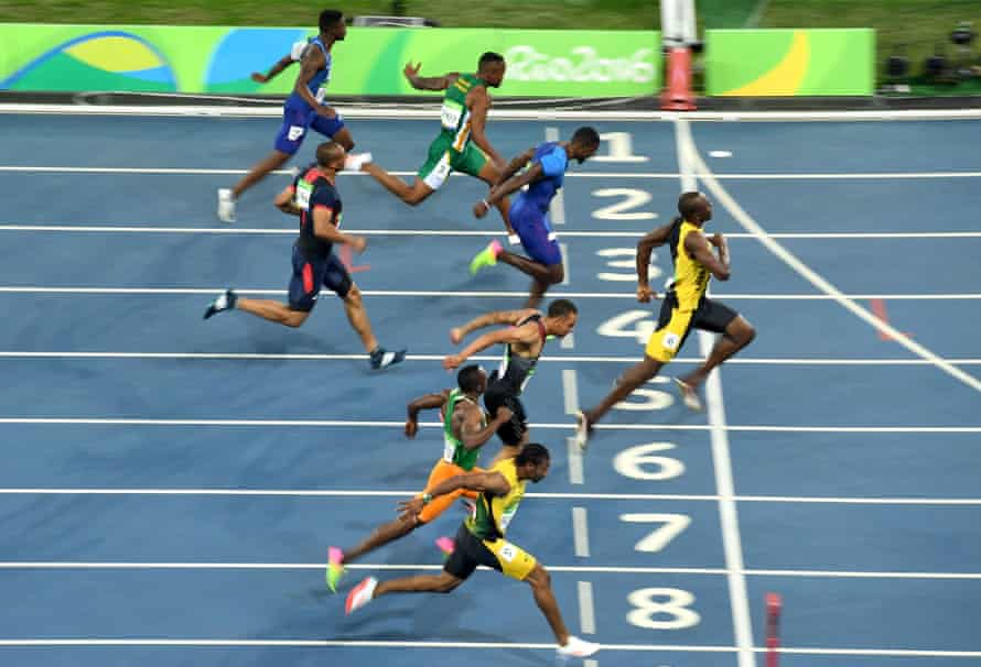 Trayvon Bromell (top) finishes last in the men's 100m final in Rio. But the 2016 winner, Usain Bolt, believes Bromell will take gold this time.