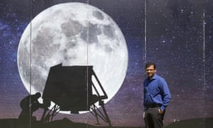 Rahul Narayan of the Indian company TeamIndus which is attempting to land on the moon.