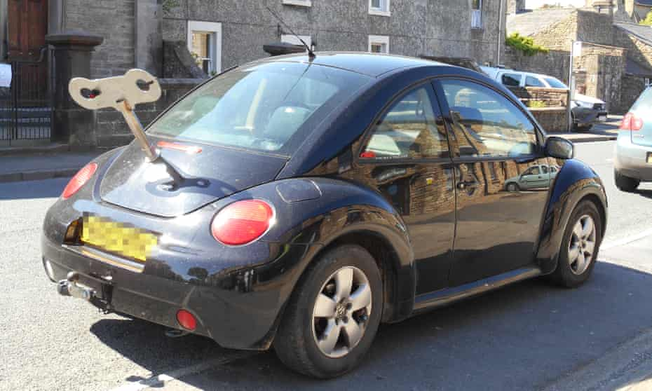 A clockwork VW Beetle spotted in North Yorkshire by reader Susan Gregory