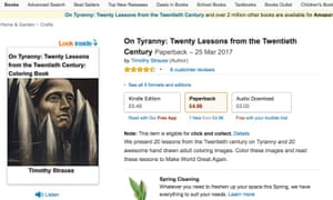 the Amazon listing for On Tyranny as it appeared after the hack.
