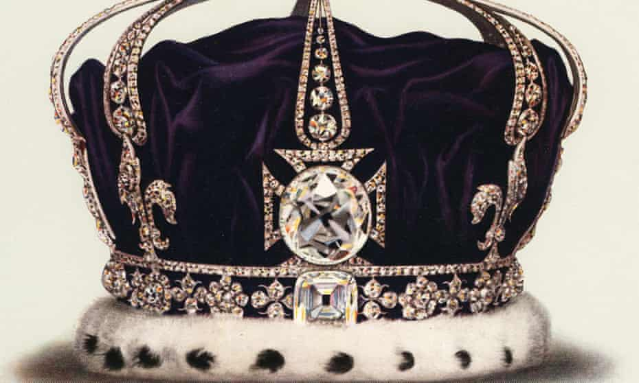 The Koh-i-noor diamond in the state crown of Queen Mary, consort of George V.