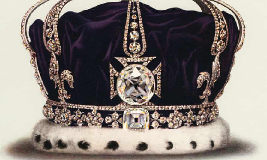 The State Crown Of Queen MaryVintage illustration of the State Crown of Queen Mary, Consort of George V, part of the Crown Jewels of England (chromolithograph)