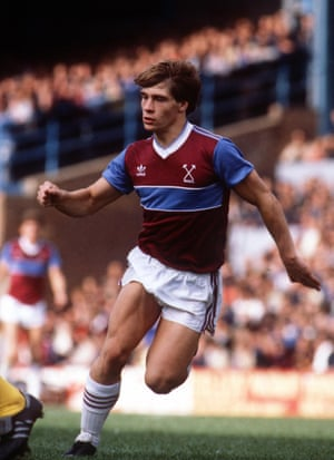 Tony Cottee of West Ham United during the 1984/5 season