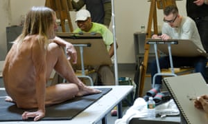In the raw … Jeremy Deller's project Iggy Pop Life Class at the Brooklyn Museum, New York, 2016.