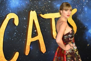 Taylor Swift, one of the stars of the new 'Cats' film, arrives at the Lincoln Center, New York.
