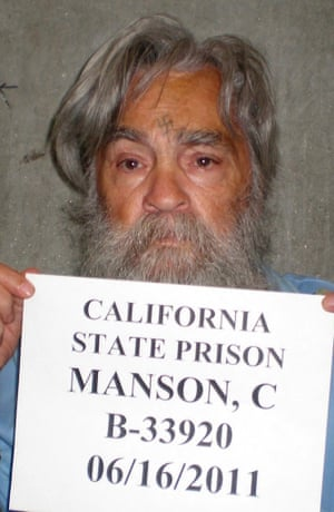 Manson is seen here in a 2011 photo when he was aged 77, having spent over four decades in prison