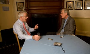 Bob Willis and John Major at the Oval in 2007.