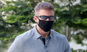 Brian Dugan Yeargan outside court in Singapore on 13 May 2020.