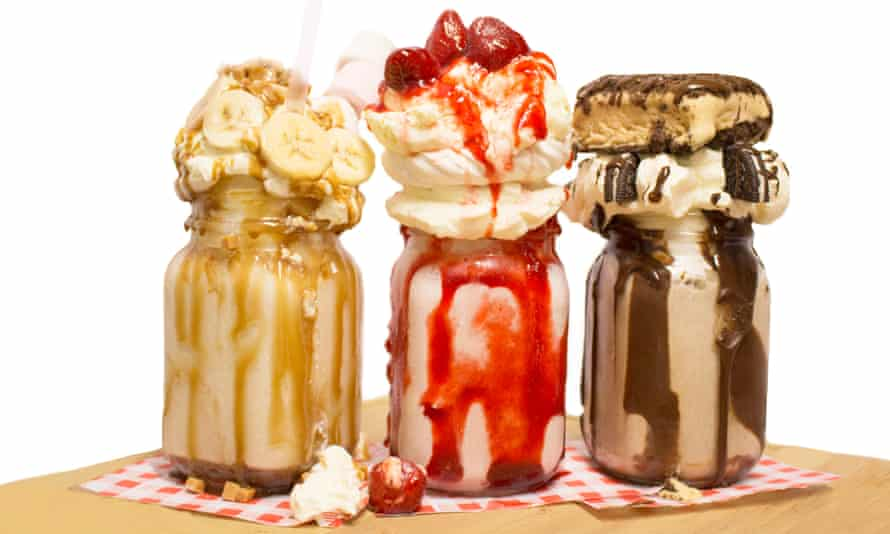 Freakshakes served at Maxwell's bar and grill