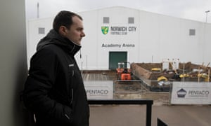 Stuart Webber oversees building work at the club's academy.