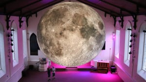 Bristol artist Luke Jerram's latest work, Museum of the Moon, was on display in St.Thomas's Church in Kendal last weekend as part of the Lakes Alive festival. Measuring seven metres in diameter, Jerram's moon features detailed Nasa imagery of the lunar surface.