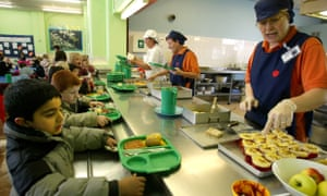 A dinner lady at a primary school