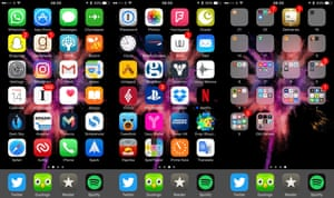 Composite of iPhone Apps on home screen