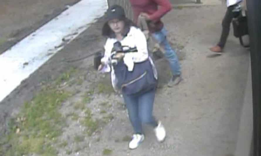 Yingying Zhang seen in security camera footage the day of her disappearance.