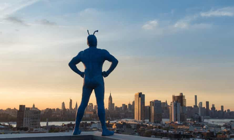 'An epic tale rife with destiny, adventure and blood loss' ... Peter Serafinowicz as The Tick.