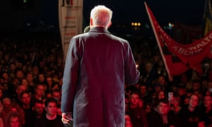 Jeremy Corbyn speaks at a Labour conference rally in Liverpool on Saturday.