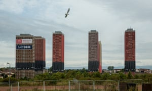 Glasgow's Red Road flats on Sunday 11 October, the morning of their planned demolition.