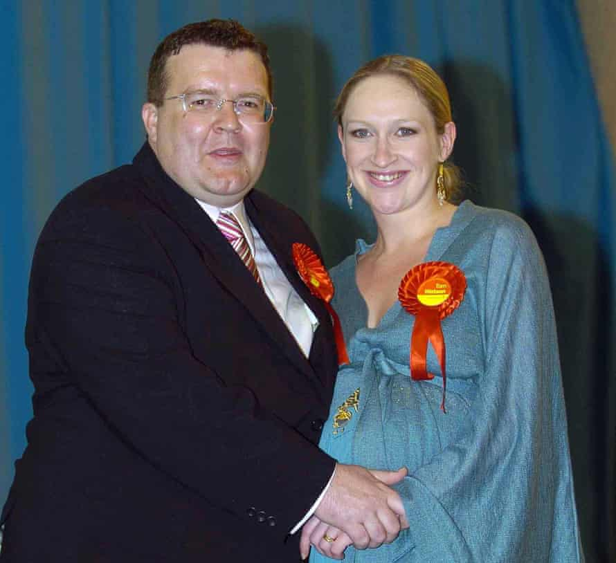 With his ex-wife, Siobhan, during the election count in his constituency in 2005.