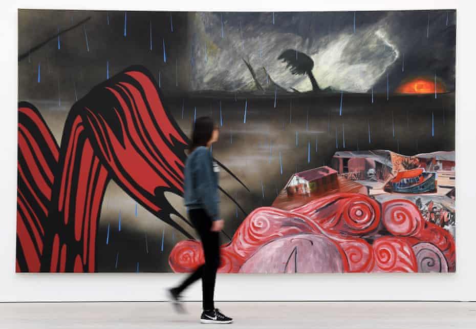 Fantasy landscape mash-ups... Dexter Dalwood's painting Deluge (2006).