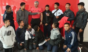 Wild Boars football youth team manchester United Old Trafford Jose Mourinho