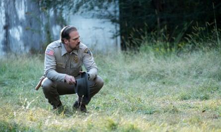David Harbour as Jim Hopper in TV's Stranger Things.