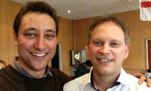 Mark Clarke and Grant Shapps in an image from Clarke's Facebook page.