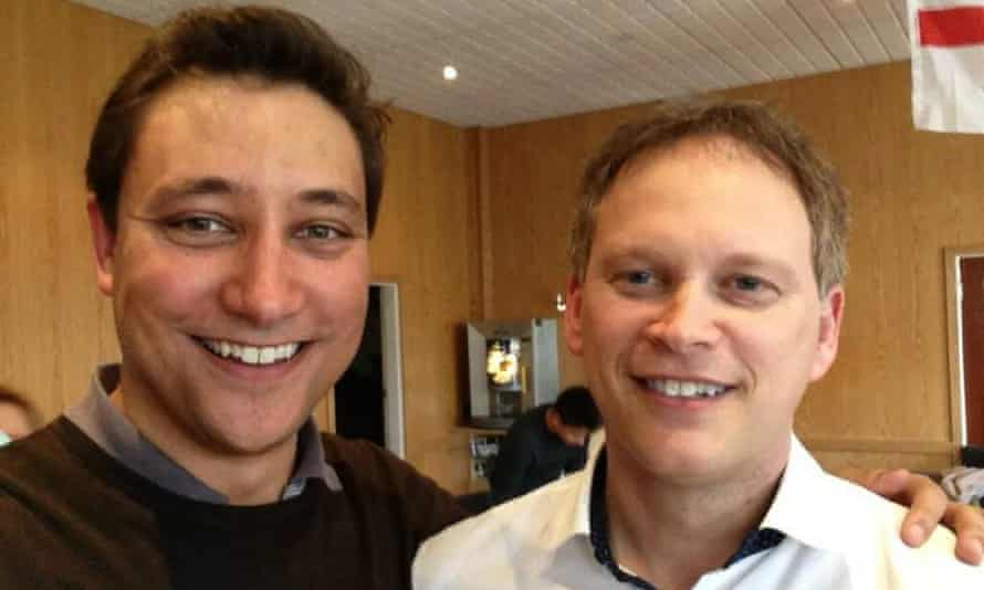 Mark Clarke, left, with Grant Shapps.