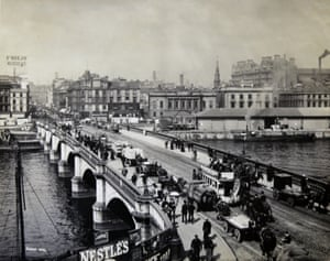 Clyde Navigation: Glasgow Harbour. View of Glasgow Bridge, from South Side, June 1892