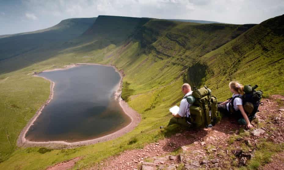Llyn y Fan Fach, Brecon Beacons National Park, Powys, Wales