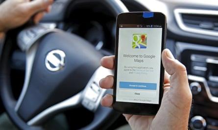 google maps on an smartphone