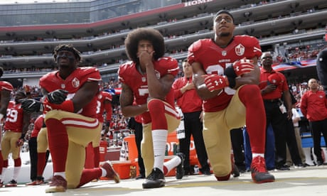 We can't hear Colin Kaepernick any more. He's being drowned out by noise