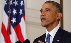 President Barack Obama speaks during his address.