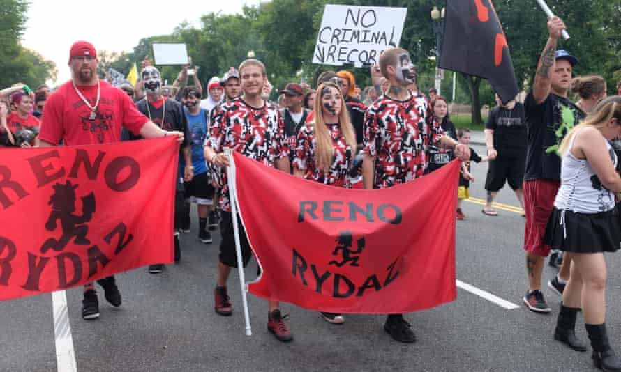 The Juggalos were out in Washington to demonstrate against the FBI's designation as a gang.