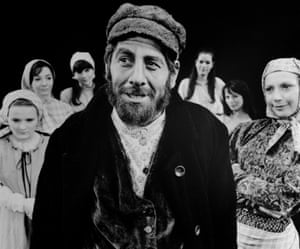 Chaim Topol played the milkman Tevye in Fiddler on the Roof more than 3,500 times, including in this 1968 London run.
