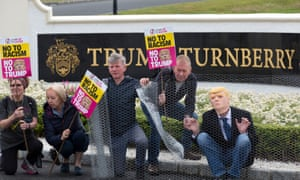 Protesters at the Trump Turnberry resort in South Ayrshire.