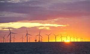 Walney windfarm, off Barrow-in-Furness, Cumbria, a project licensed by the crown estate.